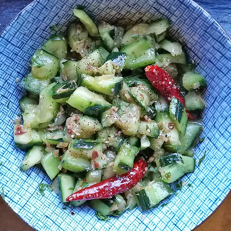 Sichuan Smashed Cucumber Salad