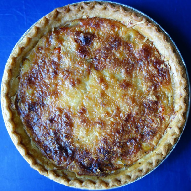 Cheese Onion & Tomato Pie