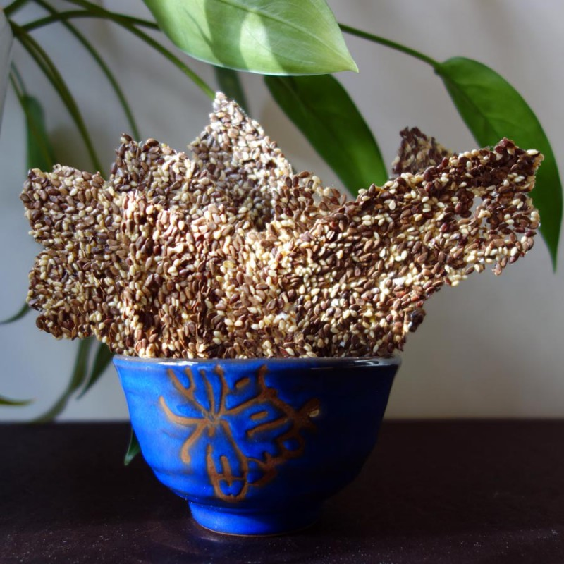 Flaxseed and Sesame Crackers