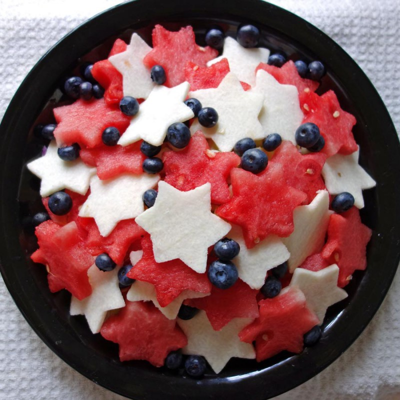Red, White & Blue Watermelon Salad
