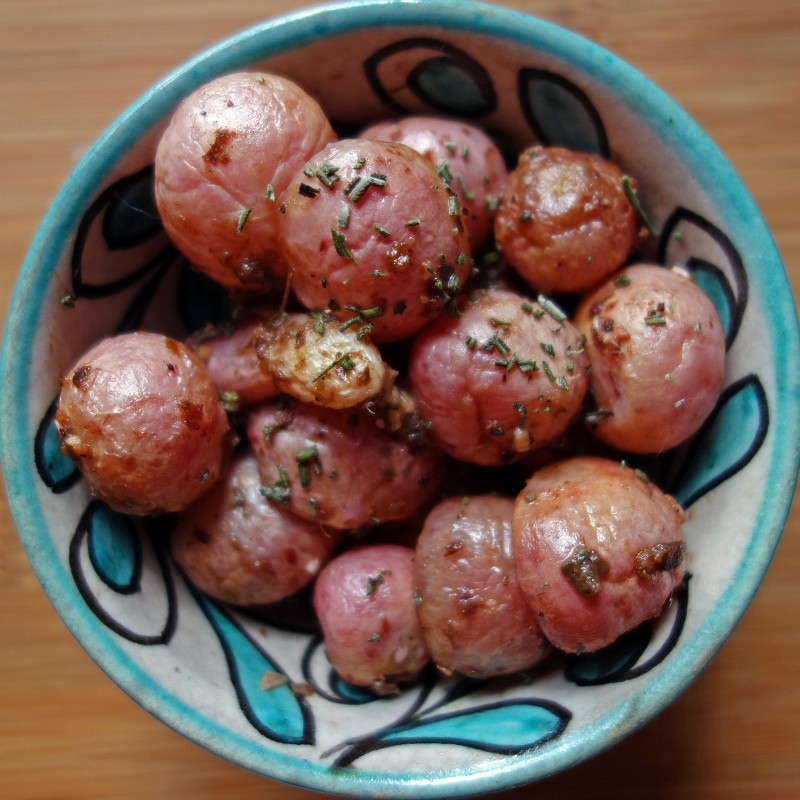 Roasted Radishes with Anchovies & Rosemary