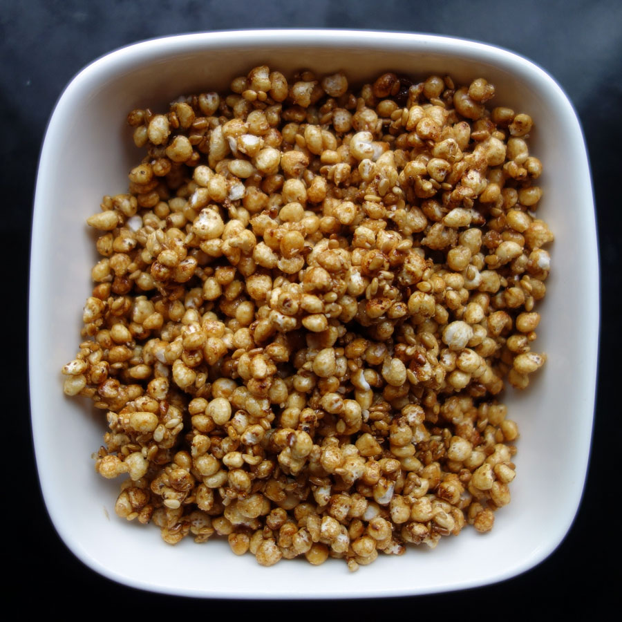 Caramelized Sesame Millet Puffs