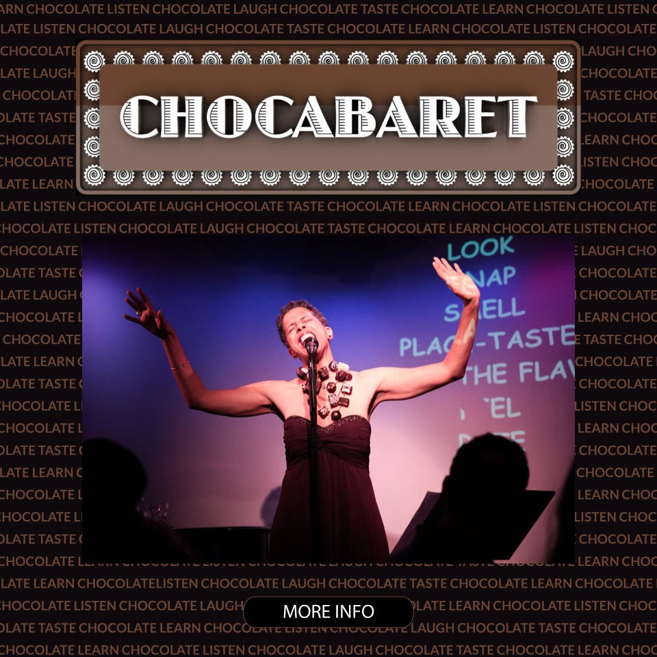 Chocabaret: a tasting of artisan chocolates matched to songs with Singing Chef Jackie Gordon