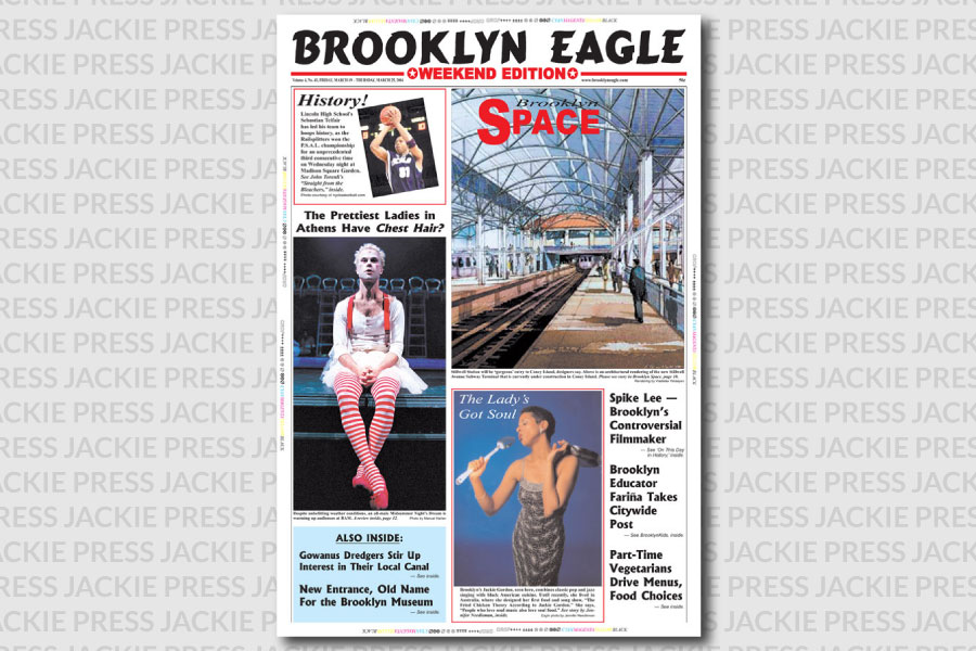 Jackie Gordon Singing Chef - Press: Say Cheese in Brooklyn Daily Eagle