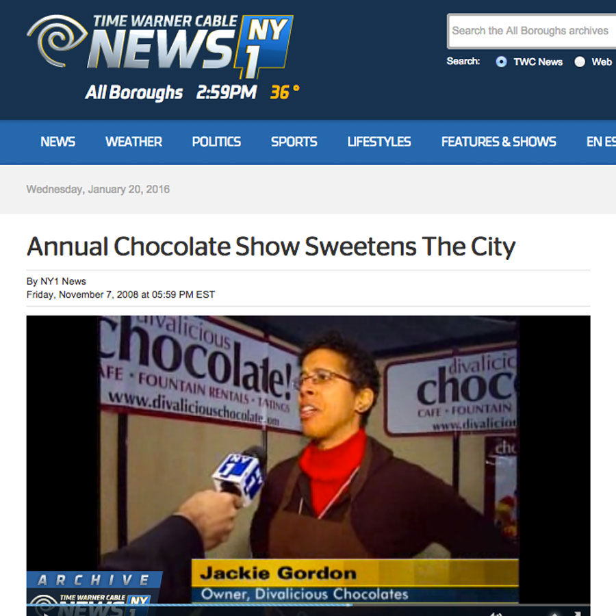 Jackie Gordon Singing Chef - New York Chocolate Show 2008 (NY1 and Fox News)