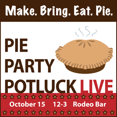 Pie Party Potluck LIVE!