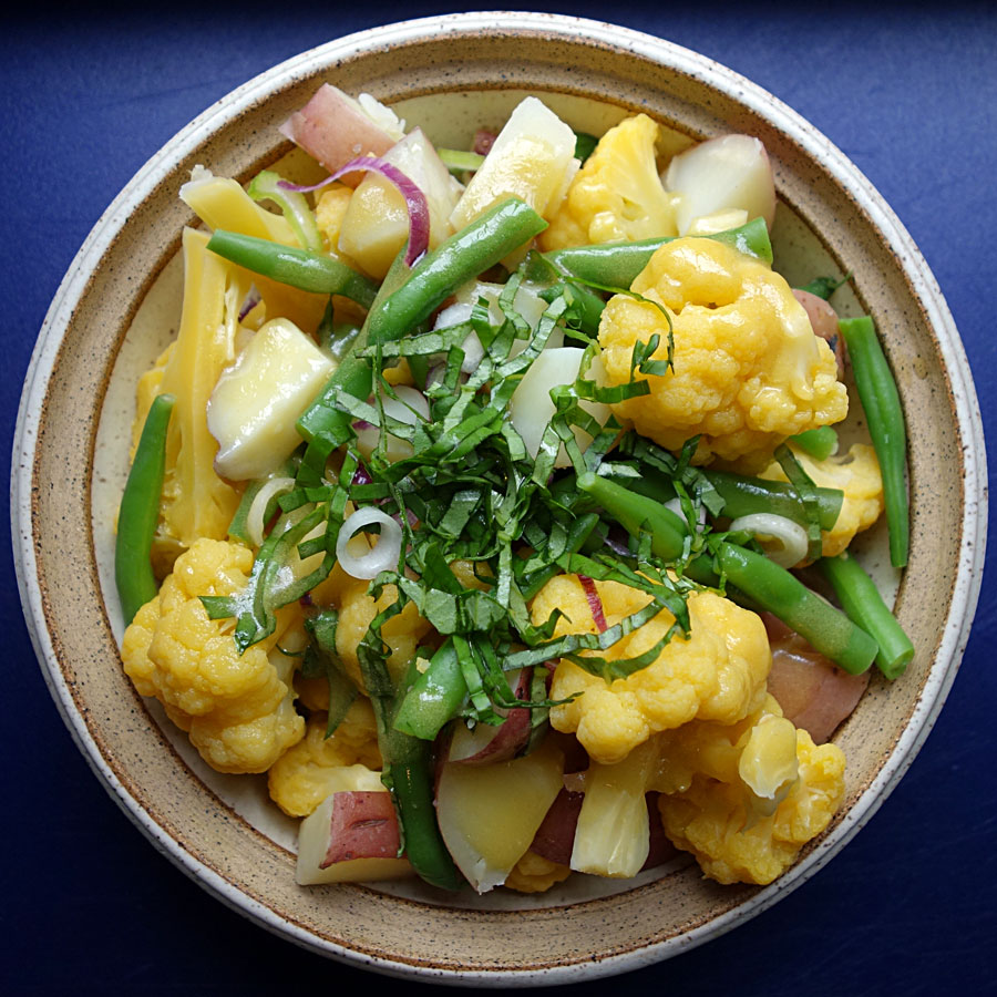 Potato, Cauliflower & Green Bean Salad