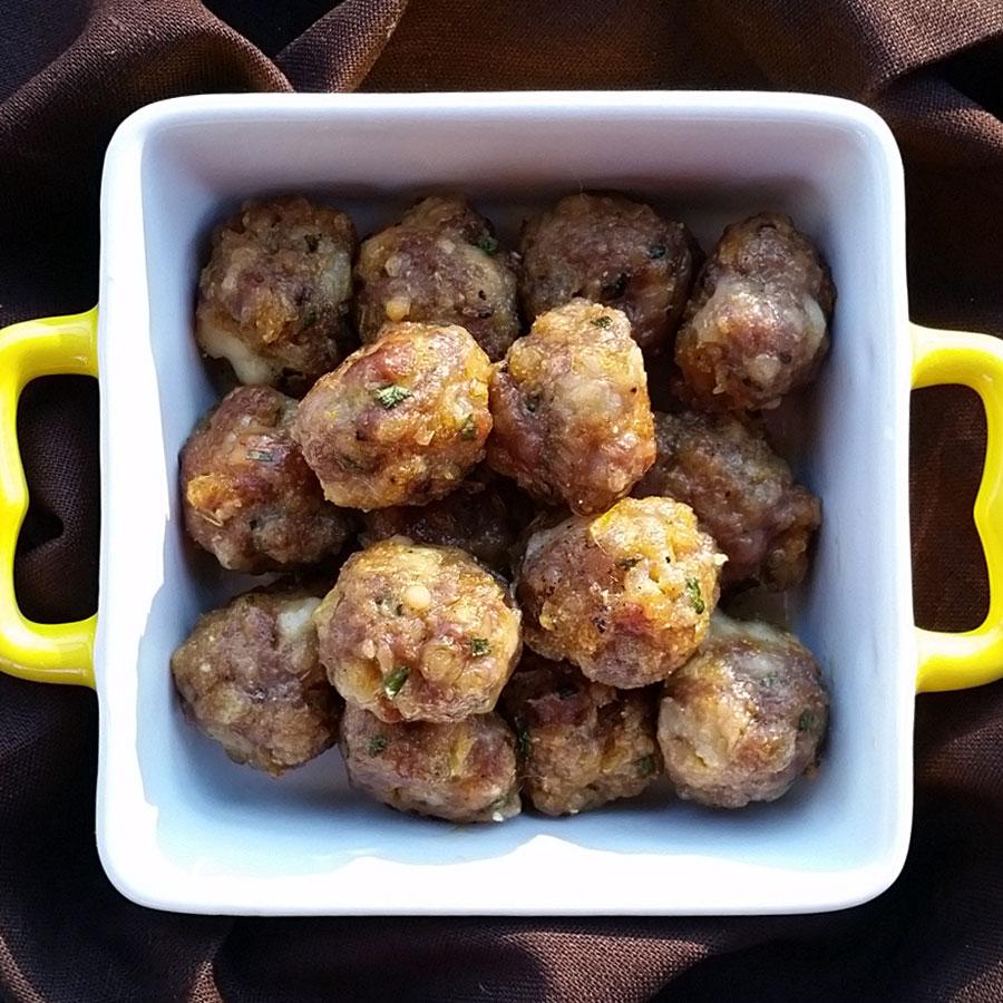 Gluten Free Sausage, Cheddar & Chive Balls