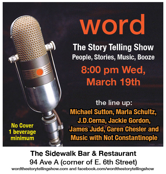 Jackie Gordon Singing Chef - WORD … The Story Telling Show: People, Stories, Music, Booze